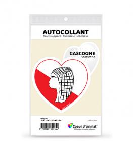 Gascogne - Culturel   Autocollant Coeur j'aime