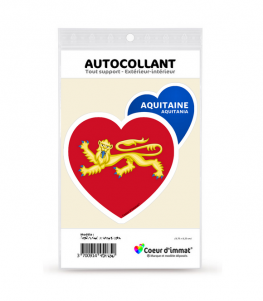 Aquitaine - Blason | Autocollant Coeur j'aime