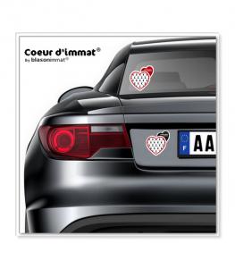 Limousin - Blason | Autocollant Coeur j'aime sur véhicule