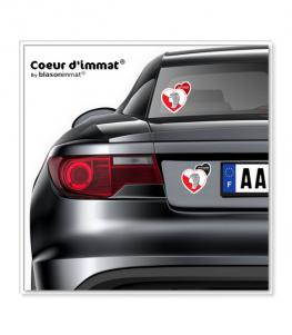 Gascogne - Culturel   Autocollant Coeur j'aime sur véhicule