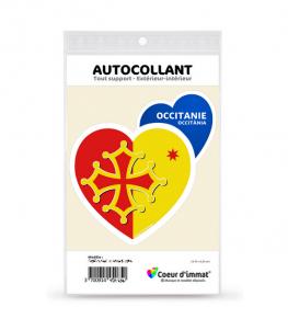 Occitanie - Collector | Autocollant Coeur j'aime