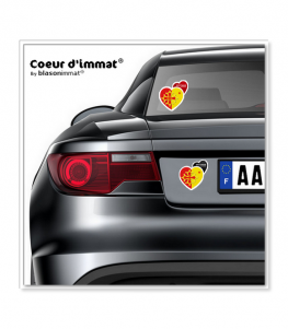 Occitanie - Collector | Autocollant Coeur j'aime sur véhicule