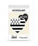 Bretagne - Drapée | Autocollant Coeur j'aime