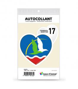 Charente-Maritime 17 - J'aime | Autocollant Coeur j'aime