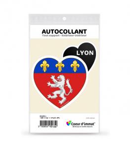 Lyon - Blason | Autocollant Coeur j'aime