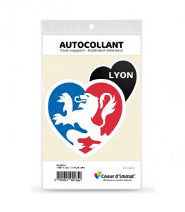 Lyon - Ville | Autocollant Coeur j'aime