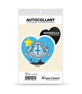 Marseille - Cité Phocéenne | Autocollant Coeur j'aime