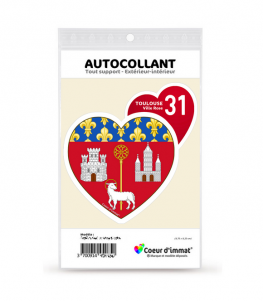 Toulouse 31 - Blason | Autocollant Coeur j'aime