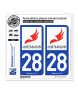28 Châteaudun - Ville | Autocollant plaque immatriculation