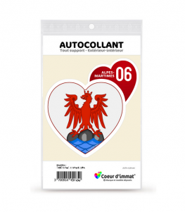 Alpes-Maritimes 06 - Blason | Autocollant Coeur j'aime