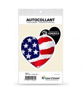 États-Unis - America USA | Autocollant Coeur j'aime