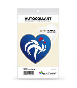 France - Fiers d'être bleus | Autocollant Coeur j'aime