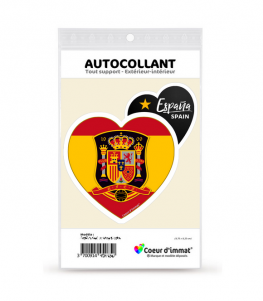 Espagne - La Roja | Autocollant Coeur j'aime