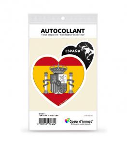 Espagne - Armoiries Drapées | Autocollant Coeur j'aime