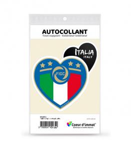 Italie - Gli Azzurri | Autocollant Coeur j'aime