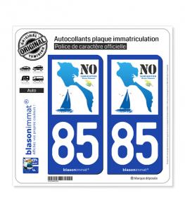 85 Noirmoutier - Île aux Mimosas | Autocollant plaque immatriculation