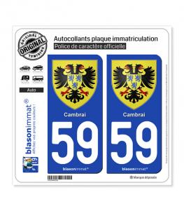 Cambrai - Armoiries | Autocollant plaque immatriculation