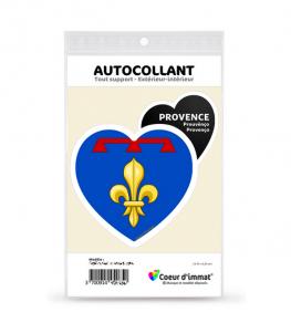 Provence - Blason II | Autocollant Coeur j'aime