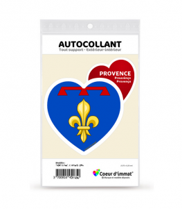 Provence - Blason II   Autocollant Coeur j'aime