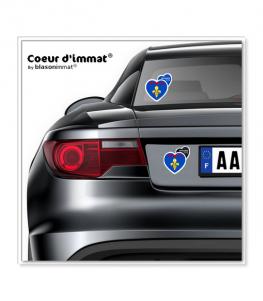 Provence - Blason II   Autocollant Coeur j'aime sur véhicule