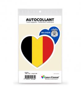 Belgique - Drapée | Autocollant Coeur j'aime