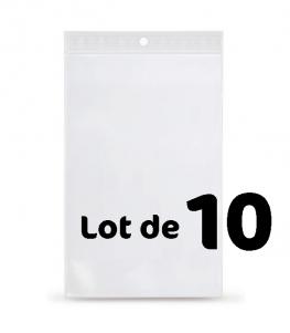 Lot de 10 Sachets plastique de présentation