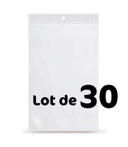 Lot de 30 Sachets plastique de présentation