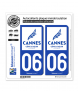 06 Cannes - Ville | Autocollant plaque immatriculation
