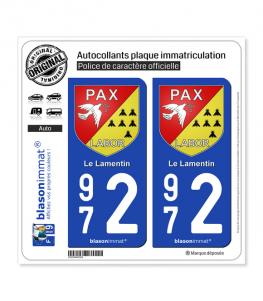 972 Le Lamentin - Armoiries | Autocollant plaque immatriculation