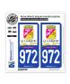 972 Le Lamentin - Ville | Autocollant plaque immatriculation