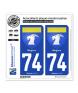 74 Megève - Armoiries | Autocollant plaque immatriculation