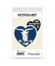 Haute-Savoie - Megève | Autocollant Coeur j'aime (noir)