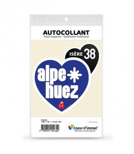 Isère - Alpe d'Huez   Autocollant Coeur j'aime