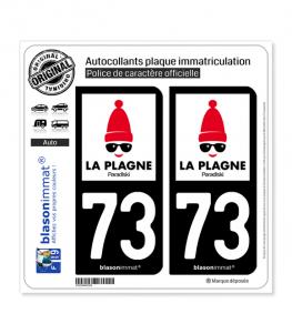 73 La Plagne - Station | Autocollant et plaque immatriculation