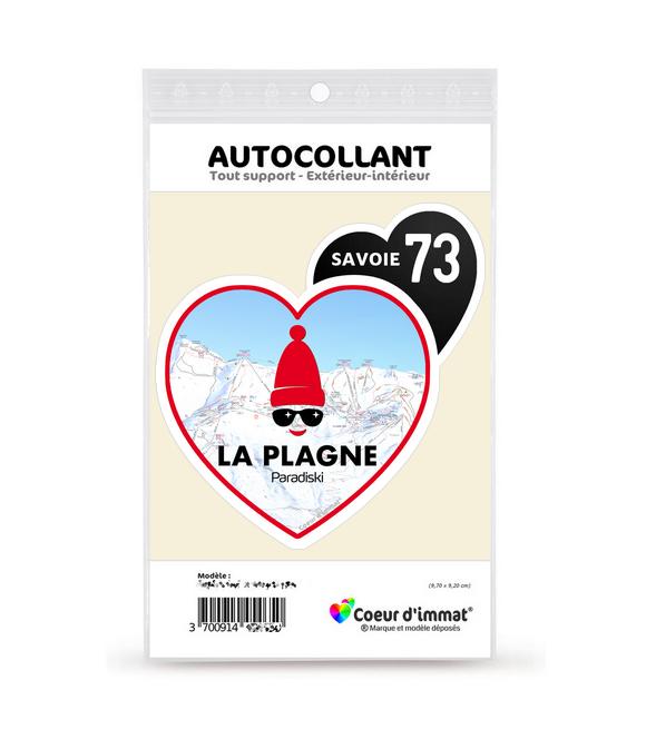 Savoie - La Plagne | Autocollant Coeur j'aime