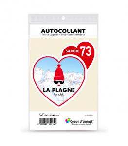 Savoie - La Plagne | Autocollant Coeur j'aime (rouge)