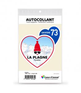 Savoie - La Plagne | Autocollant Coeur j'aime (bleu)