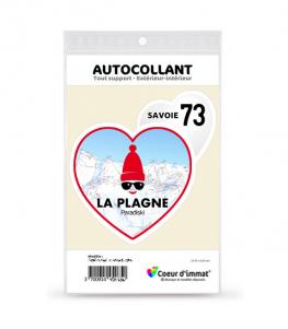 Savoie - La Plagne | Autocollant Coeur j'aime (autre)