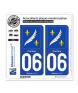06 Cannes - Armoiries | Autocollant plaque immatriculation