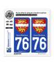 76 Seine-Maritime - Armoiries | Autocollant plaque immatriculation