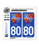 80 Somme - Armoiries | Autocollant plaque immatriculation