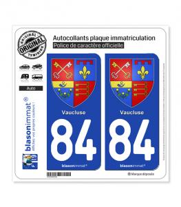 84 Vaucluse - Armoiries | Autocollant plaque immatriculation
