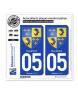 05 Dauphiné - Armoiries | Autocollant plaque immatriculation