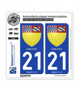 21 Côte-d'Or - Armoiries | Autocollant plaque immatriculation