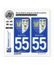 55 Bar-le-Duc - Armoiries | Autocollant plaque immatriculation