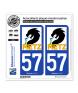 57 Metz - Ville | Autocollant plaque immatriculation