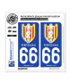 66 Perpignan - Ville | Autocollant plaque immatriculation