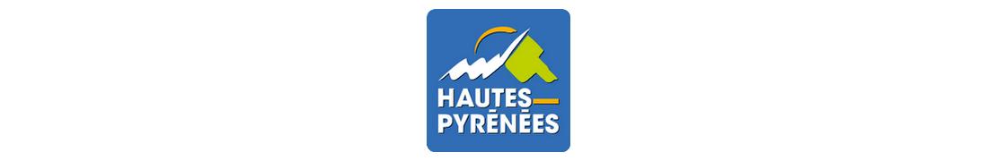 65 Hautes-Pyrénées - Autocollant plaque immatriculation