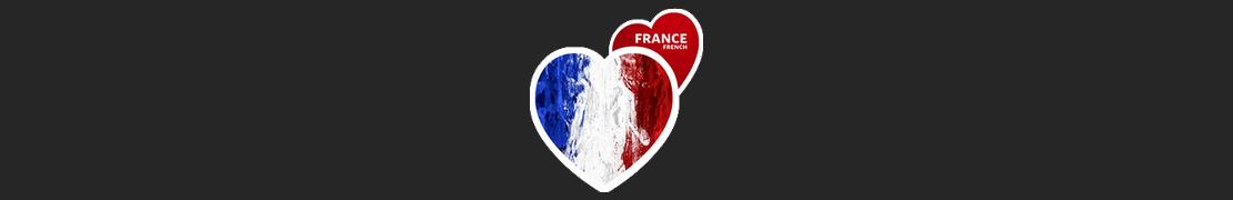 Coeur d'immat™ Regions de France - Stikers autocollants Coeur j'aime