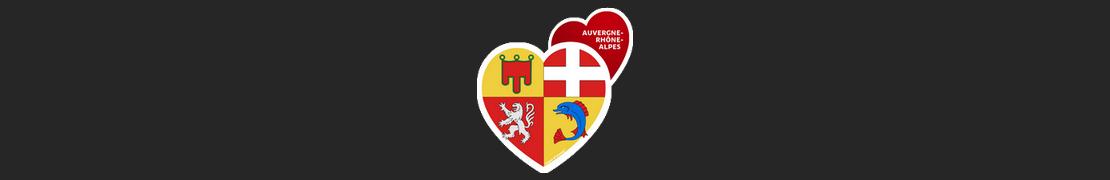 Coeur d'immat™ Auvergne-Rhône-Alpes - Autocollants Coeur j'aime